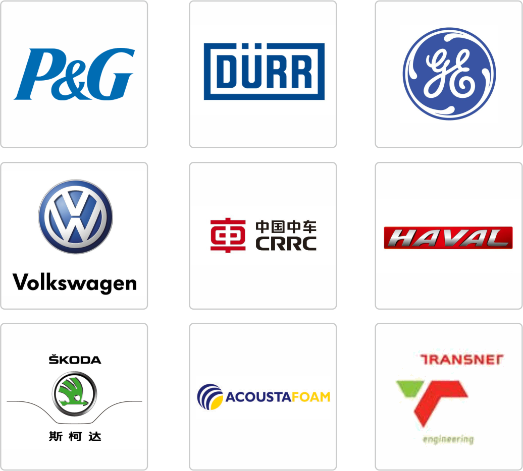 SINOYQX-featured clients-P&G, GE,SKODA, HAVAL, TRANSNET,CRRC,etc